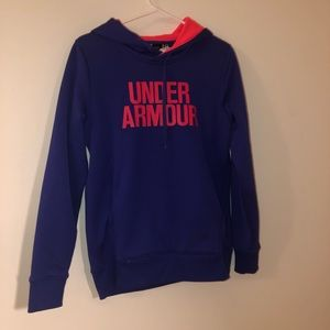 UNDER ARMOUR Blue and Pink Hoodie